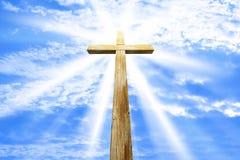 Kruis tegen de hemel Stock Foto