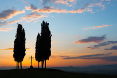 Kruis in Toscanië Stock Foto