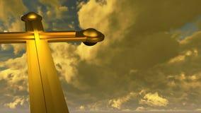 Kruis van goud wordt gemaakt dat Royalty-vrije Stock Fotografie