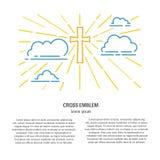 Kruis in wolken royalty-vrije illustratie