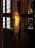 Kruisbeeld in de kerk van Venetië stock fotografie