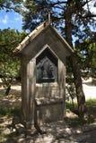 Kruisbeeld dwarsgedenkteken op onderstelfilerimos, Griekenland, Rhodos Royalty-vrije Stock Foto's