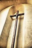 Kruisbeeld op een Muur Stock Afbeeldingen
