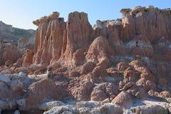 Kruisbeskreek Badlands, Wyoming Royalty-vrije Stock Afbeeldingen