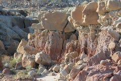 Kruisbeskreek Badlands, Wyoming Royalty-vrije Stock Foto's