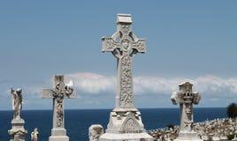 Kruisen bij Begraafplaats Royalty-vrije Stock Fotografie