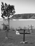 Kruisen in de begraafplaats Stock Fotografie