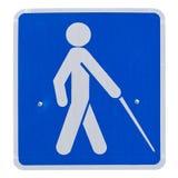 kruisend blind teken royalty-vrije illustratie