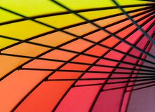 Kruisend zwarte metaalstructuur creeer een abstract patroon Royalty-vrije Stock Afbeeldingen