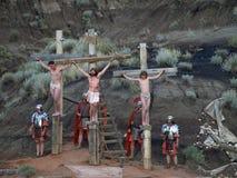 Kruisiging. Stock Foto's