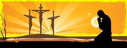Kruisiging Stock Afbeelding
