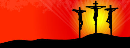 Kruisiging van Christus stock illustratie