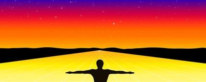 Kruising aan eeuwigheid stock illustratie