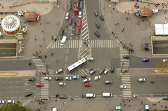Kruising in Parijs, Frankrijk Stock Foto
