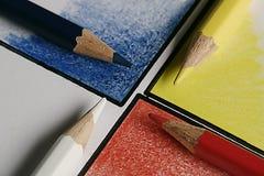 kruising van kleurpotlood Royalty-vrije Stock Foto