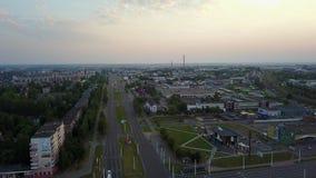 Kruising van Tereshkova-straat en Moskovsky-Vooruitzicht Stad Vitebsk stock footage