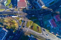 Kruispunt in de stad Stock Fotografie