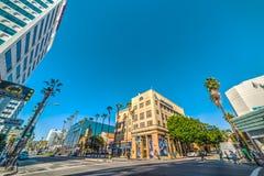 Kruispunt in Hollywood-boulevard Royalty-vrije Stock Foto's