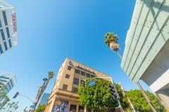 Kruispunt in Hollywood-boulevard Royalty-vrije Stock Afbeeldingen