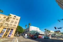 Kruispunt in Hollywood-boulevard Stock Foto