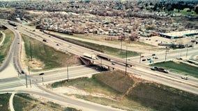 Kruispunten in Colorado stock footage