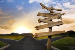 Kruispunten met het verwarren van richtingpijlteken