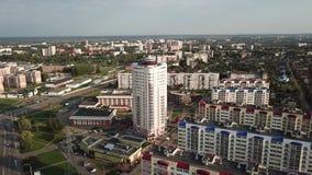 Kruispunten van de straten van Pravda en Smolenskaya- Stad Vitebsk stock videobeelden