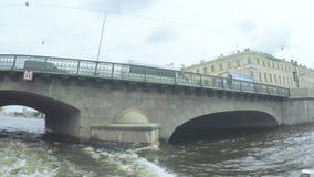 Kruispuntenkanalen in St. Petersburg stock footage