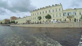 Kruispuntenkanalen in St. Petersburg stock video