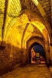 Kruisvaarderpoort in Caesarea MarÃtima, in Israël stock foto's