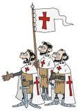 Kruisvaarders royalty-vrije illustratie