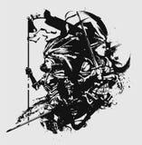Kruisvaardersvrouwen op slagveld vector illustratie