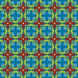 Kruisvormig vierkant ornament Royalty-vrije Stock Afbeelding