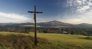 Kruisvormige heuvel Stock Afbeelding