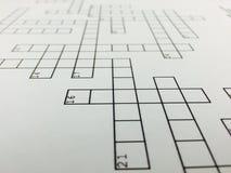 kruiswoordraadsel Stock Afbeeldingen