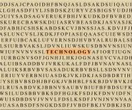 Kruiswoordraadsel-technologie stock afbeelding