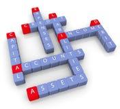 Kruiswoordraadsel van rekeningen Stock Afbeelding