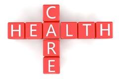 Kruiswoordraadselgezondheidszorg Royalty-vrije Stock Fotografie