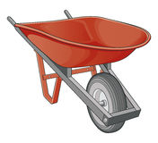 Kruiwagen stock illustratie