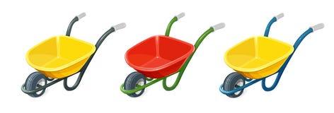 kruiwagen Het tuinieren nieuwe hulpmiddelen, rietdienblad royalty-vrije illustratie
