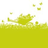 Kruiwagen in Tuin vector illustratie