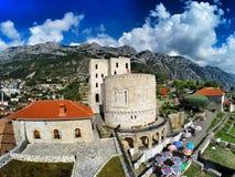 Kruja slott Arkivbild