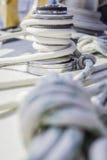 Kruk met kabel op overzees jacht Royalty-vrije Stock Afbeelding
