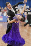 Kruk Timofey and Konopleva Diana Perform Youth-2 Standard Program on National Championship Royalty Free Stock Photo