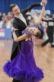 Kruk Timofey und Standardprogramm Konopleva Diana Perform Youth-2 über nationale Meisterschaft lizenzfreies stockfoto