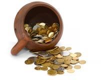 Kruka av pengar Fotografering för Bildbyråer