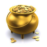 kruka 3d av guld Royaltyfria Foton