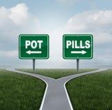 Kruka eller preventivpillerar Arkivfoton