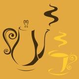 kruka för kaffekopp Royaltyfria Bilder