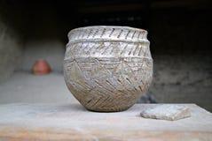 Kruka för lera för Ð- ncient av neolitiska tider Royaltyfri Bild